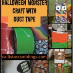 Halloween Monster Craft with Duck Brand Duct Tape