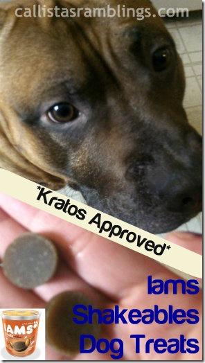 Iams Shakeables Dog Treats - Kratos Approved | callistasramblings.com
