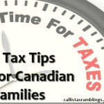 Tax Tips for Canadian Families