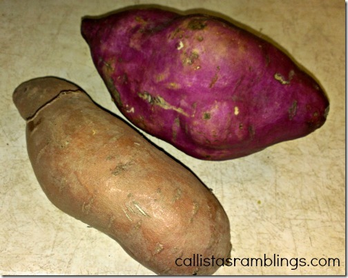 Use Sweet Potatoes, Red Sweet Potatoes, White Potatoes, Yukon Gold Potatoes, Russet Potatoes or even Turnip or Rutabaga