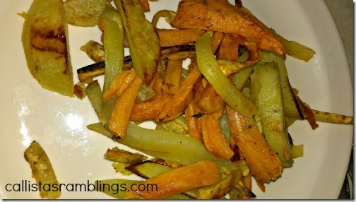 Homemade Fries - I used Sweet Potatoes, Red Sweet Potato and Yukon Gold Potato