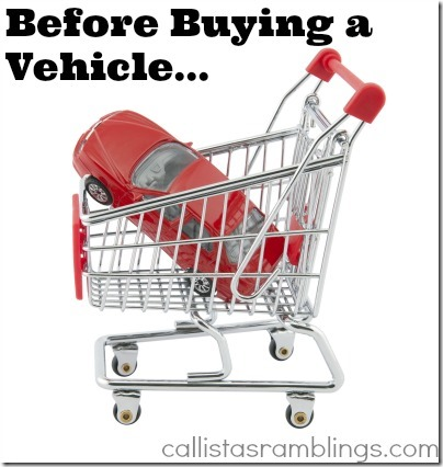 Before Buying a Vehicle
