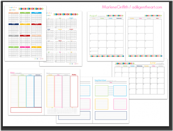 2014 2015 Digital Planner Callista S Ramblings