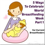5 Ways to Celebrate World Breastfeeding Week Part 1 - For Current Breastfeeders