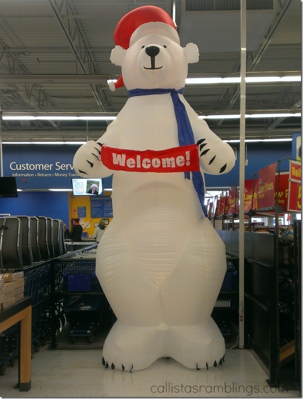 Walmart Welcome Bear (Seen During Polysporin #EczemaAndMe #shop)