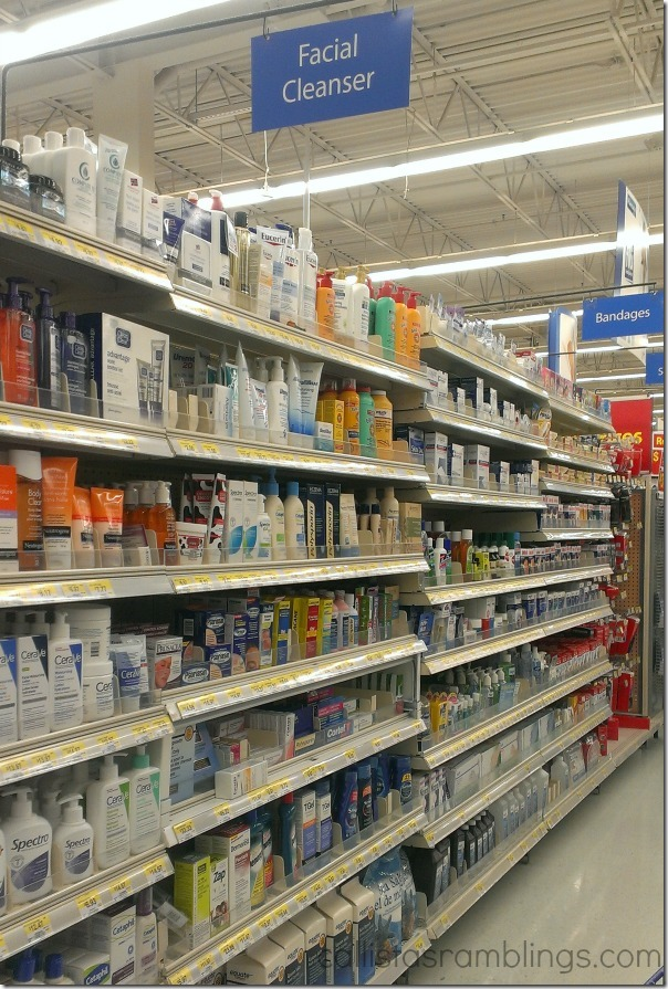 Facial Cleanser Shelf at Walmart (Seen During Polysporin #EczemaAndMe #shop)