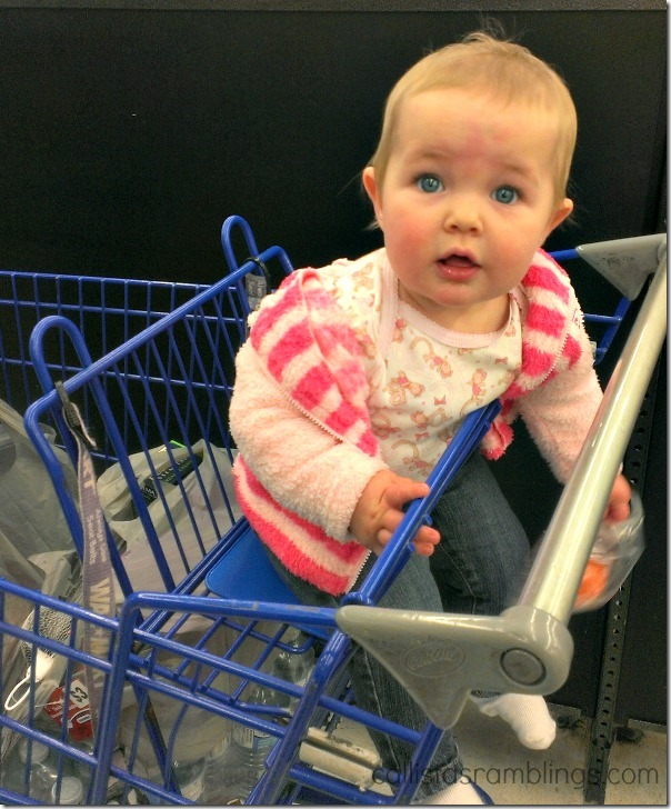 Checking Out at Walmart (Part of the Polysporin #EczemaAndMe #shop)