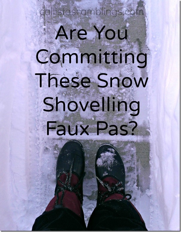 Are You Committing These Shovelling Faux Pas?