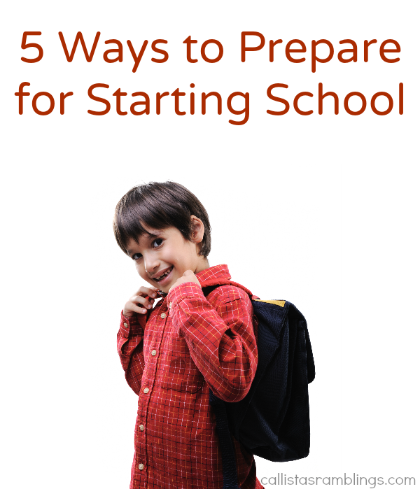 5 Ways to Prepare for Starting School