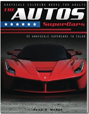 The Autos SuperCars Coloring Book for Adults