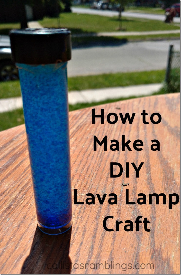 How to Make a DIY Lava Lamp Craft - Easy and Fun!