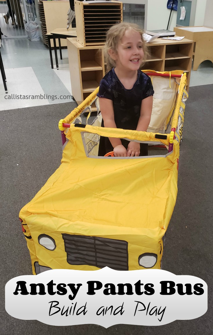 Use the Antsy Pants All-in-one Bus kit to quickly create a bus for your children to play in.