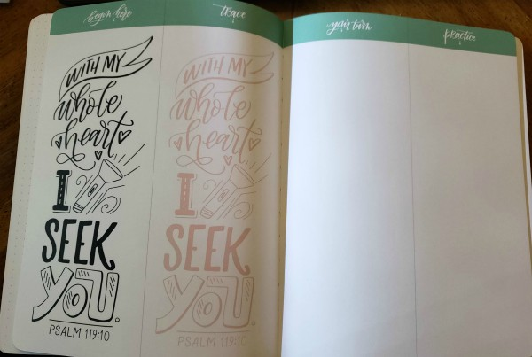 Faith & Lettering Example Page