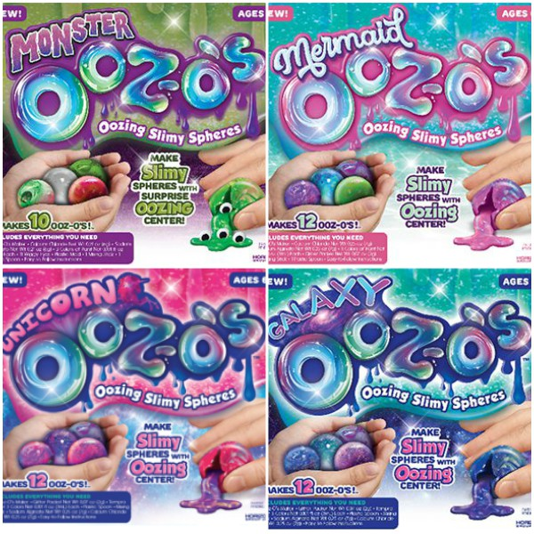 Different Types of Ooz-o's Slimy Spheres