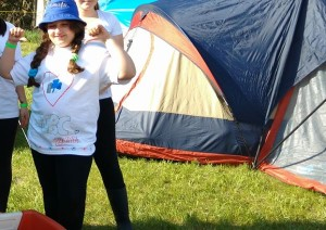 Alastrin at Girl Guide Camp
