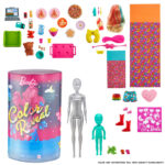 This cool toy from Toys R Us combines Barbie with the popular type of toy where you have many surprises to unwrap and colour change.